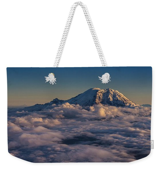 Rainier Hood Adams And St Helens From The Air Weekender Tote Bag