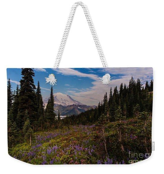 Rainier Tipsoo Wildflowers Weekender Tote Bag