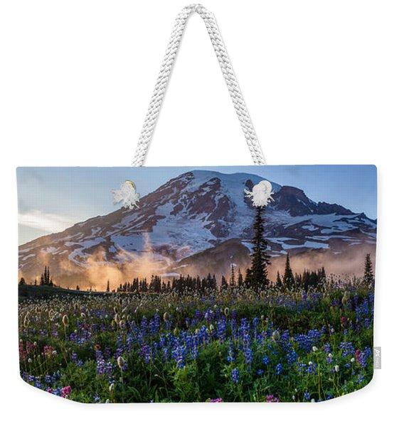 Rainier Wildflower Meadows Pano Weekender Tote Bag