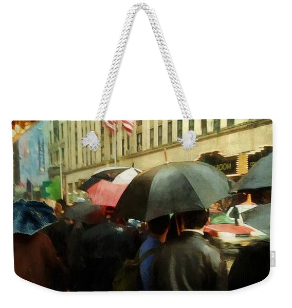 Rainy Afternoon On Broadway Weekender Tote Bag