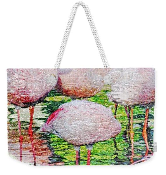 Rainy Day Flamingos 2 Weekender Tote Bag