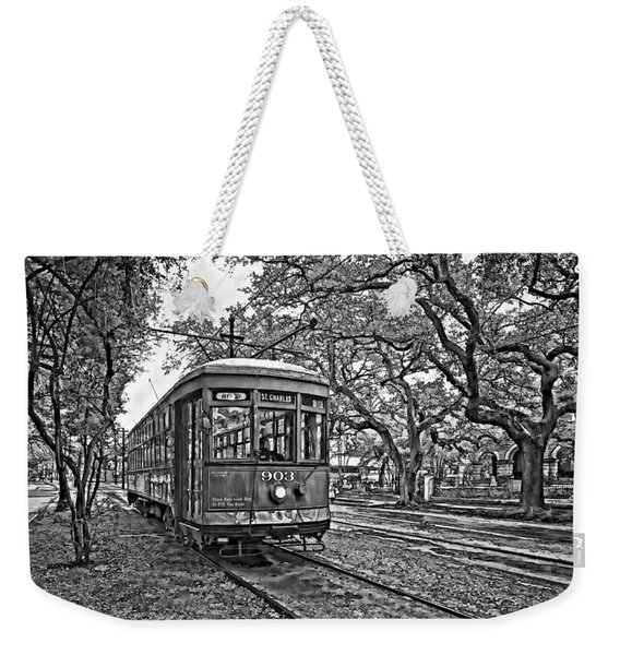Rainy Day Ridin' Monochrome Weekender Tote Bag