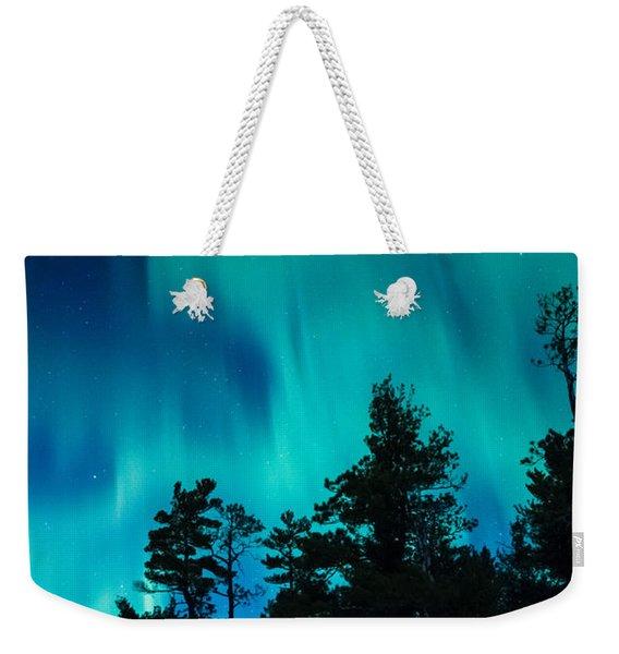 Rainy Lake Lights Weekender Tote Bag