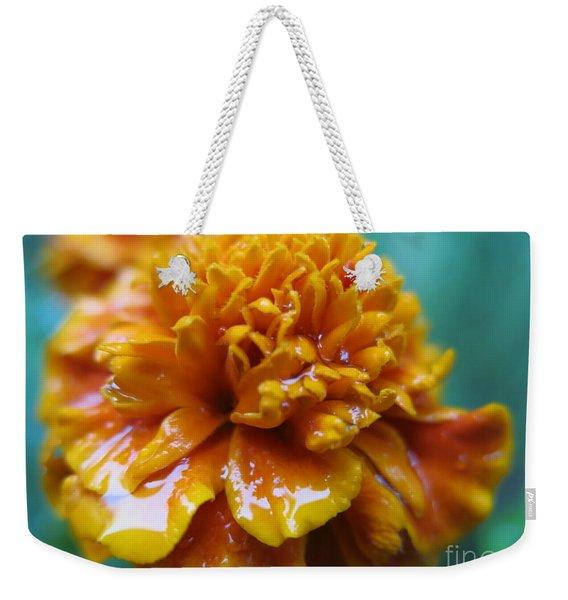Rainy Marigolds Weekender Tote Bag
