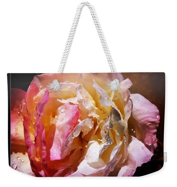 Rainy Rose Weekender Tote Bag