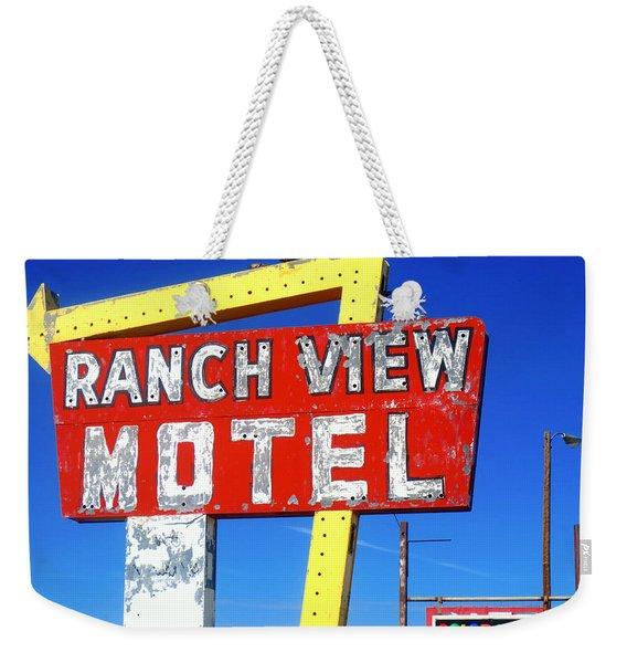 Ranch View Motel Weekender Tote Bag