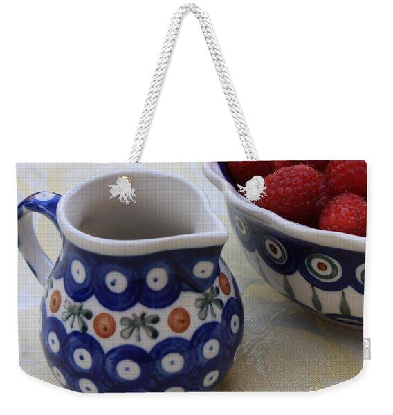 Raspberries With Cream Weekender Tote Bag