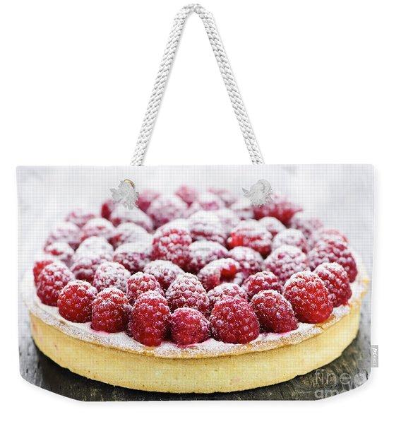 Raspberry Tart Weekender Tote Bag