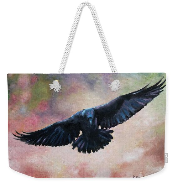 Raven In Flight Weekender Tote Bag