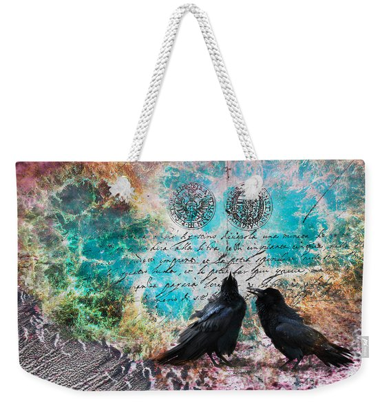 Crow Whispers In The Nowhere Weekender Tote Bag