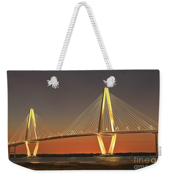 Ravenel Bridge At Dusk Weekender Tote Bag