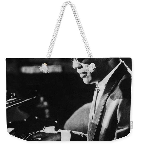 Ray Charles At The Piano Weekender Tote Bag