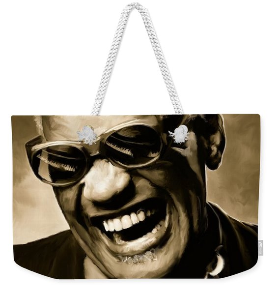 Ray Charles - Portrait Weekender Tote Bag