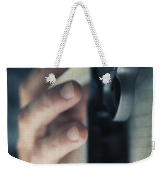 Reaching For A Gun Weekender Tote Bag