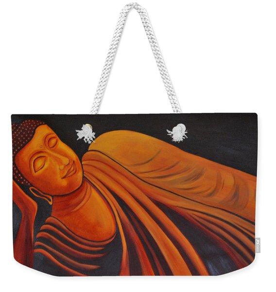 Reclining Buddha Weekender Tote Bag
