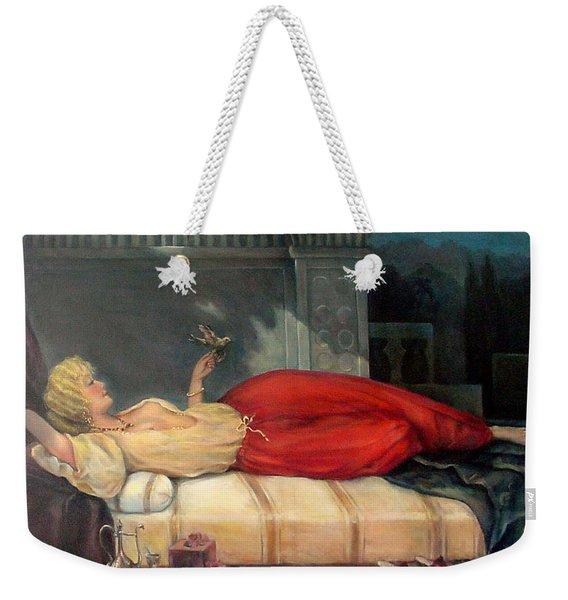Reclining Woman Weekender Tote Bag