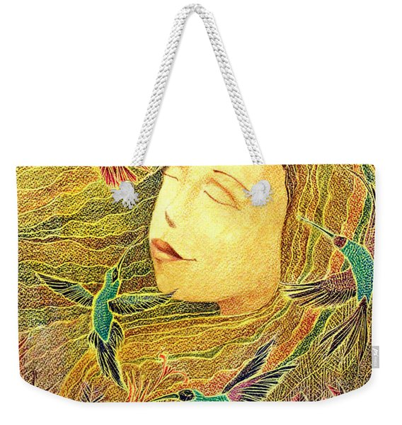 Weekender Tote Bag featuring the painting Recordando A Puerto Rico by Oscar Ortiz