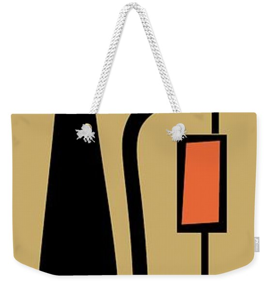 Weekender Tote Bag featuring the digital art Rectangle Cat 2 by Donna Mibus