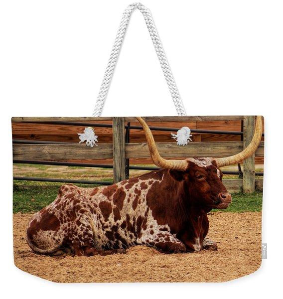 Red And White Texas Longhorn Weekender Tote Bag