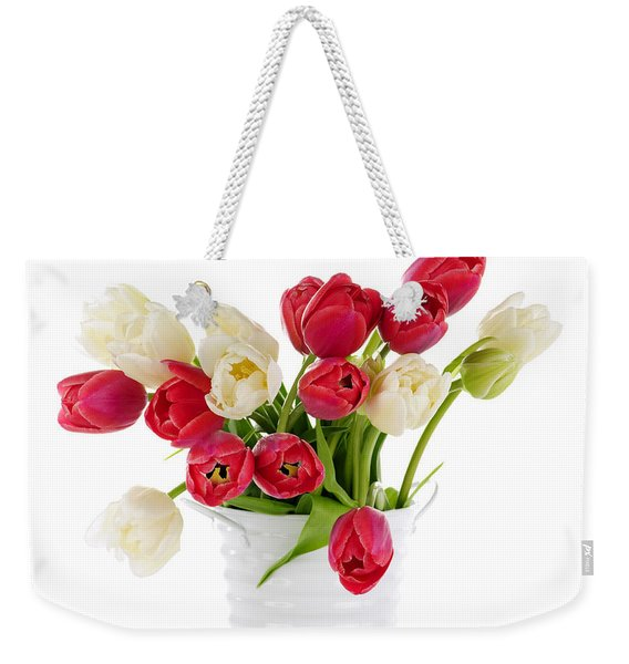 Red And White Tulips Weekender Tote Bag