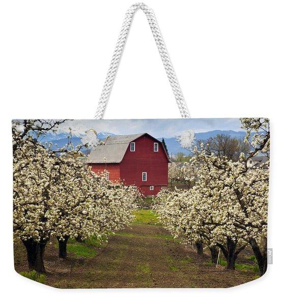 Red Barn Spring Weekender Tote Bag