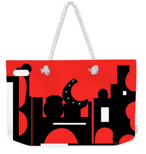 Red Bazaar Weekender Tote Bag