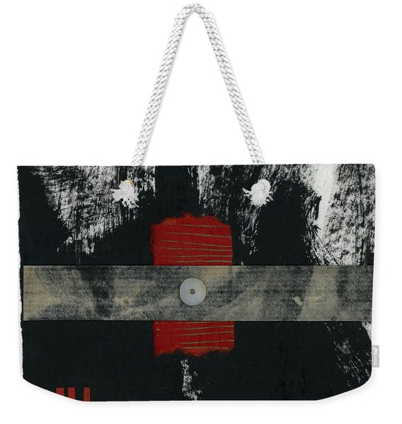 Red Black And White Collage 2 Weekender Tote Bag