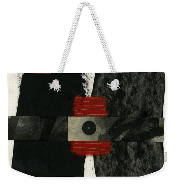 Red Black And White Collage 3 Weekender Tote Bag