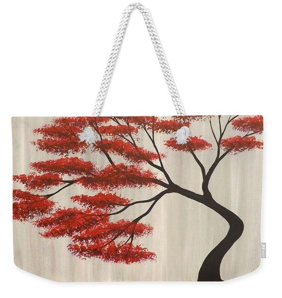 Red Bonsai Weekender Tote Bag