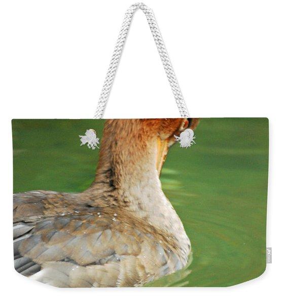 Red Breasted Merganser Weekender Tote Bag