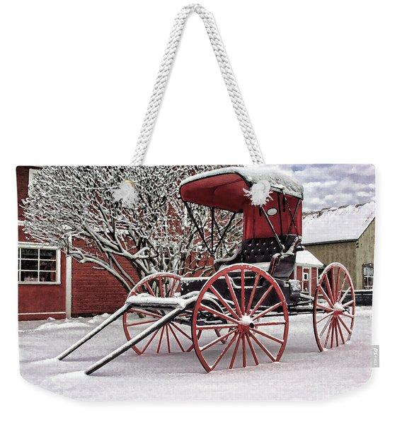 Red Buggy At Olmsted Falls - 1 Weekender Tote Bag