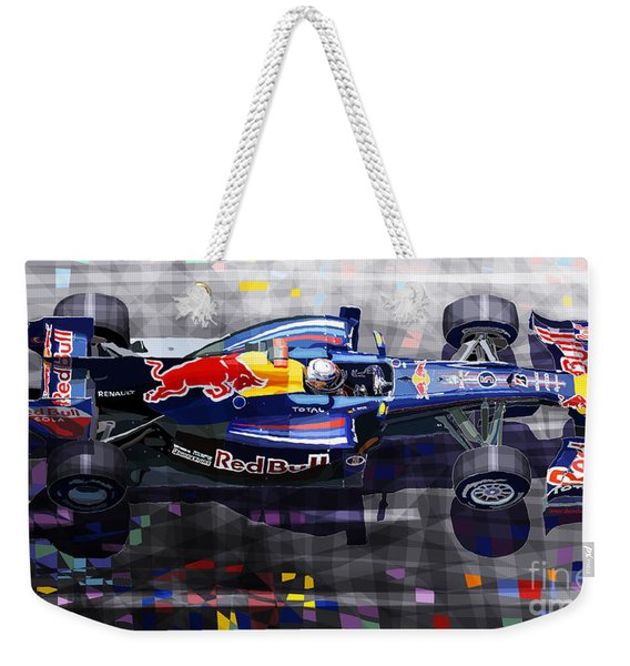 Red Bull Rb6 Vettel 2010 Weekender Tote Bag