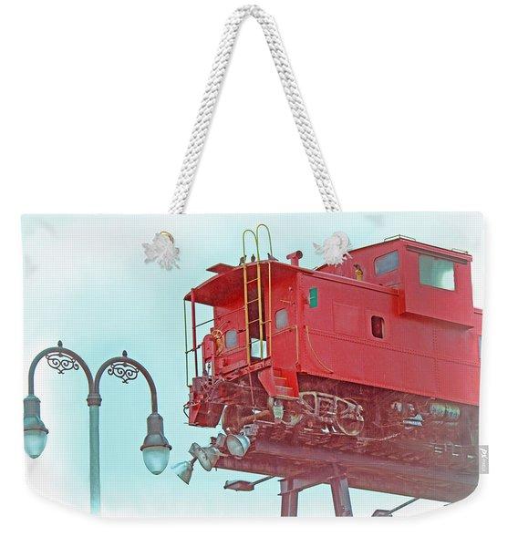 Red Caboose In The Sky2 Weekender Tote Bag