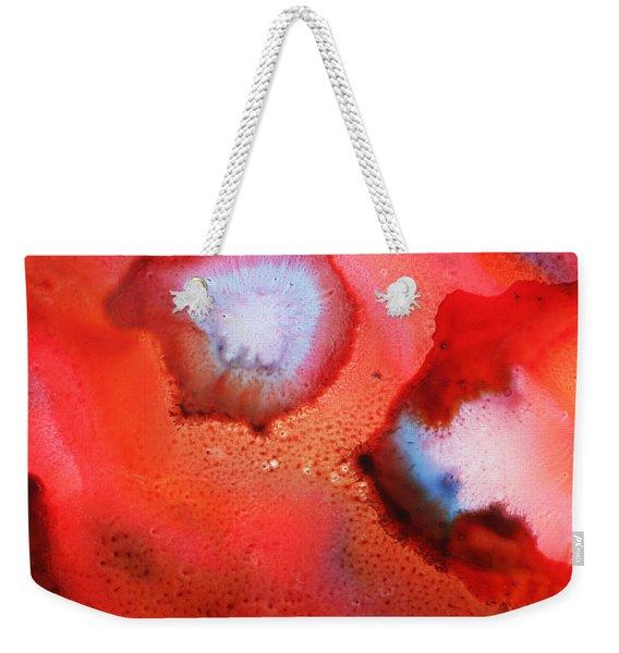 Red Cosmos Weekender Tote Bag