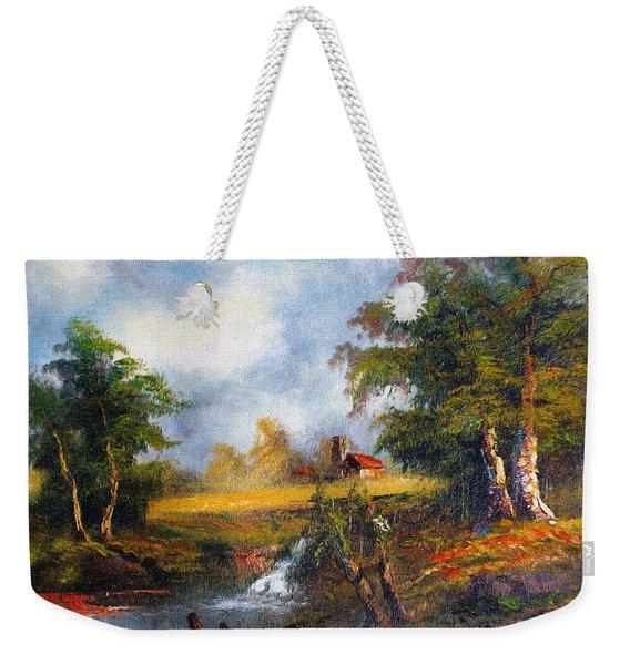 Red Cottage Weekender Tote Bag