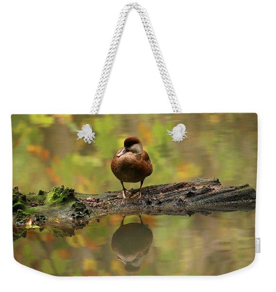 Red Crested Pochard Female Netta Rufina Weekender Tote Bag