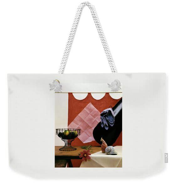Red Curtains Weekender Tote Bag