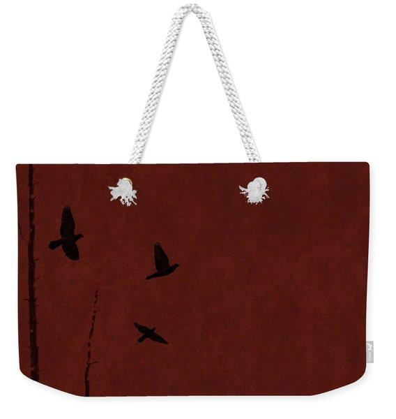Red Darkness Weekender Tote Bag