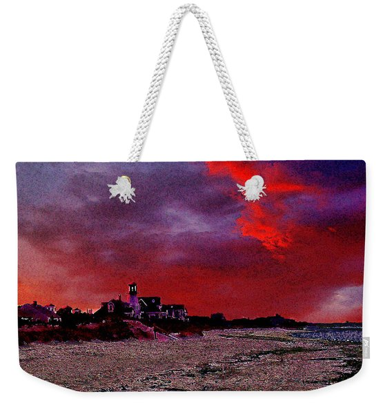 Red Dawn Weekender Tote Bag