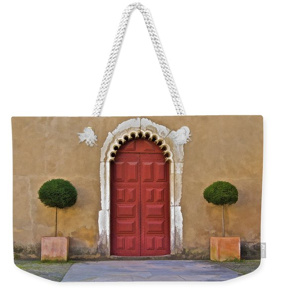 Red Door Of Caldas De Rainha Weekender Tote Bag