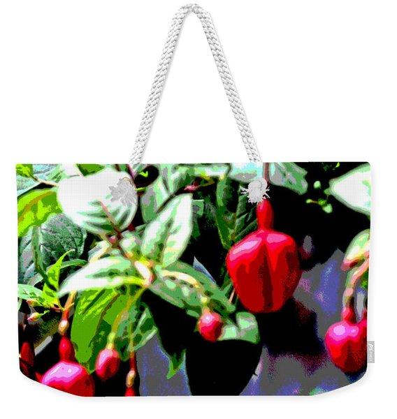 Red Flower Buds Weekender Tote Bag