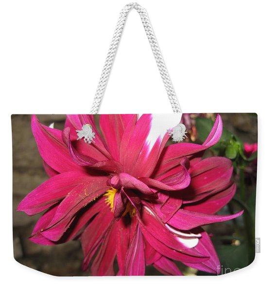 Red Flower In Bloom Weekender Tote Bag