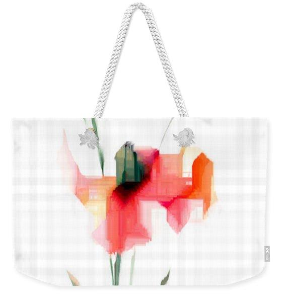 Red Flowers Weekender Tote Bag