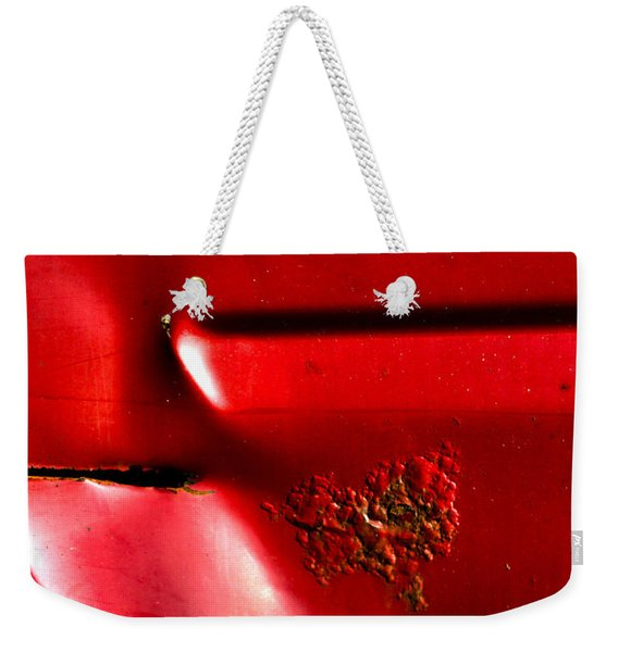 Red Gash Weekender Tote Bag