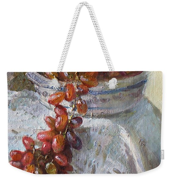 Red Grapes Weekender Tote Bag