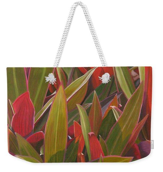 Red Green And Purple Weekender Tote Bag