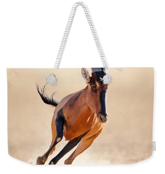 Red Hartebeest Running Weekender Tote Bag