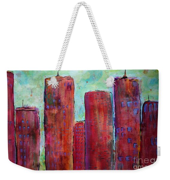 Red In The City Weekender Tote Bag