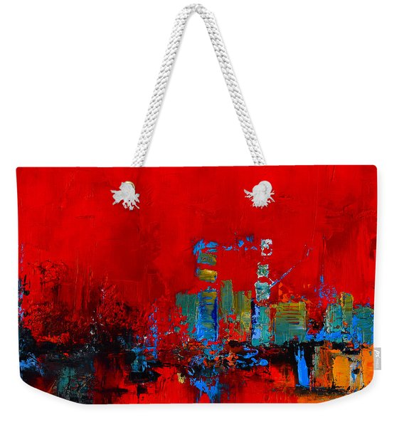 Red Inspiration Weekender Tote Bag