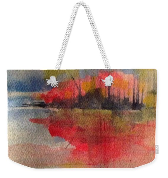 Red Lake Reflection #1 Weekender Tote Bag